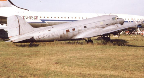 Lisunov Li-2 of Aeroflot at Monino near Moscow in 1994