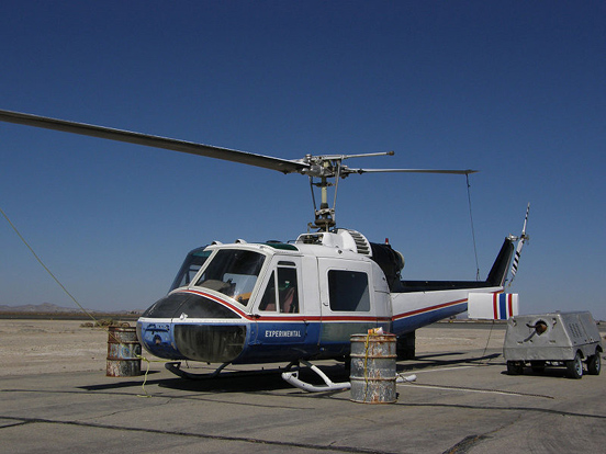 Bell 204 owned by Antelope Valley College, formerly operated by Boeing