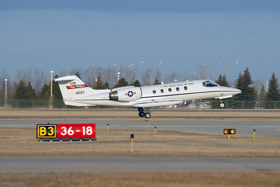 A C-21A Learjet attached to the North Dakota Air National Guard's (NDANG) 119th Fighter Wing.