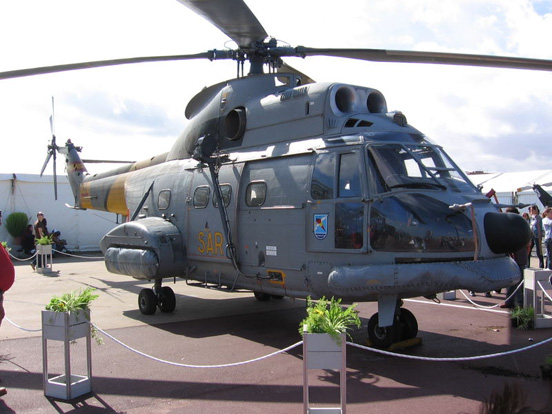Aérospatiale Puma of the 801 Squadron of Spanish Air Force.