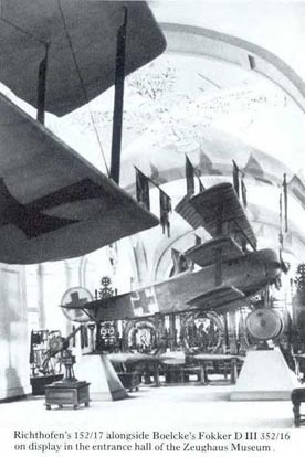 Fokker Dr.I (serial 152/17) on display at the Zeughaus