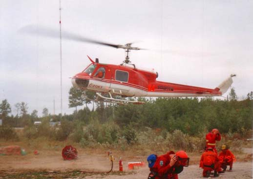 A Bell 204B (upgraded to a