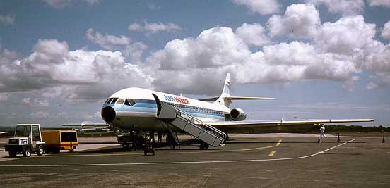 One of the last Caravelles built, flying with Air Inter