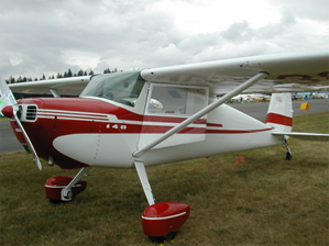 Cessna 140A with the single wing strut