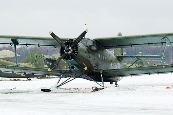 An-2 on skis at Volosovo air field, Moscow region