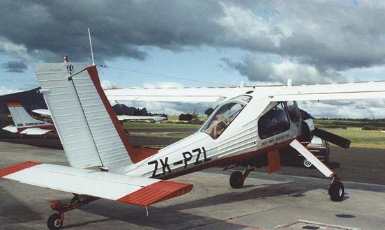 PZL 104 Wilga 35A at Taupo airfield, New Zealand, in February 1992 showing rear cabin glazing arrangement