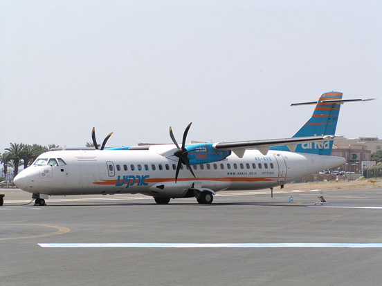 Arkia ATR 72-500 parked at Eilat Airport, Israel