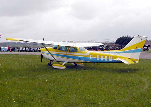 A 1971 Cessna 172L at Kemble Airfield, England, May 2003