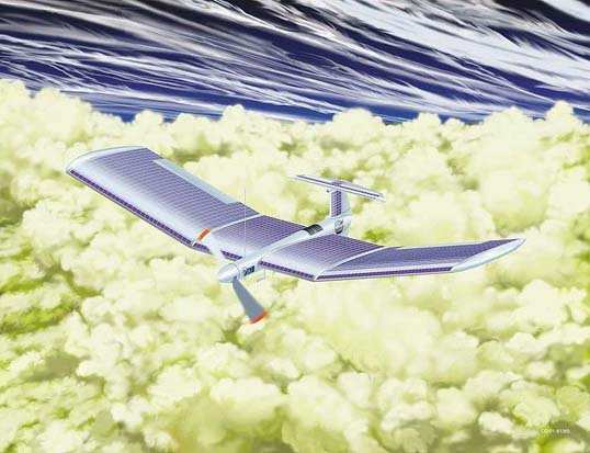 Artist's conception for a Venus airplane