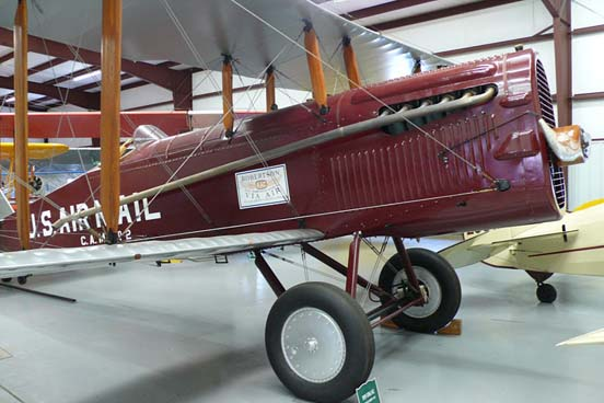 United States Postal Service DH.4 from 1919 at the Historic Aircraft Restoration Museum.