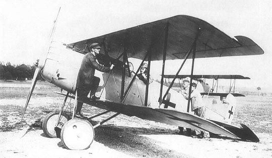 Test pilot Otto August in an early Pfalz D.XII