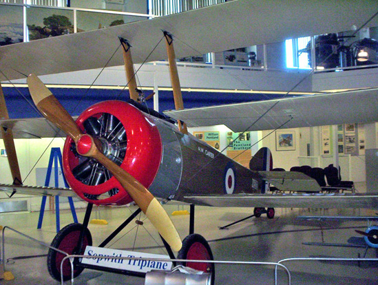 Sopwith Triplane reproduction at the Aero Space Museum of Calgary, 2005