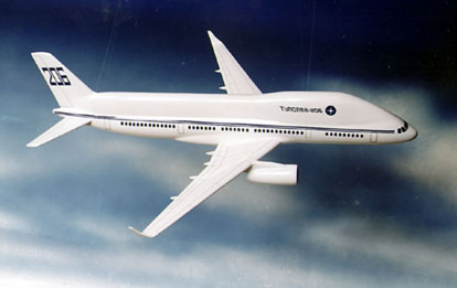 The planned experimental Tupolev Tu-206.