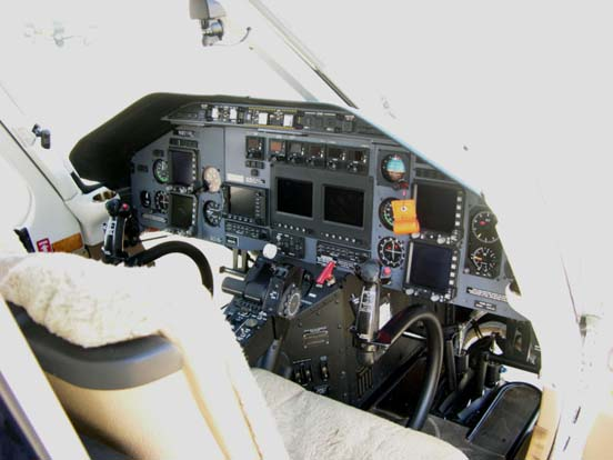 Cockpit of a Bell 430.