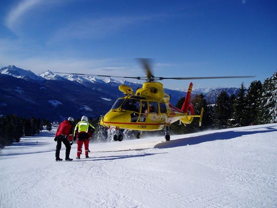 Eurocopter AS365 N3 Dauphin 2 rescue helicopter I-TNBB on Italian skiing area