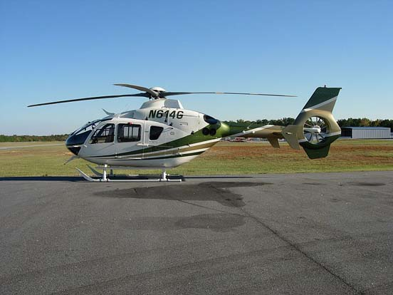 Privately-operated EC135 T2 'N614G' at Newnan-Coweta County Airport