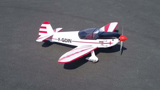 Radio controlled model of the 10B powered by a .60 cubic inch (10cc) glow engine