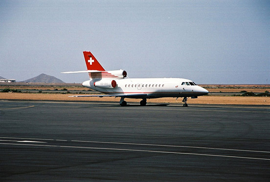 A Falcon 900 on Sal Island, Cape Verde