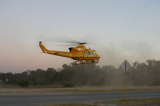 RAC Rescue 1, a Bell 412EP. Sponsored by RAC WA and operated by FESA