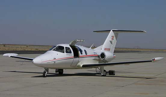 Eclipse 500 flight test aircraft at Mojave