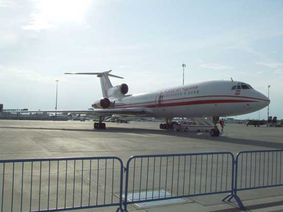 Polish military VIP transport Tu-154M aircraft from the 36th Special Air Transport Regiment, at Warsaw