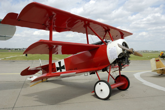 Fokker Dr.I replica at the ILA 2006, the