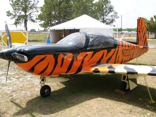 Mooney M20T Predator prototype, N20XT, on display at Sun 'n Fun 2006