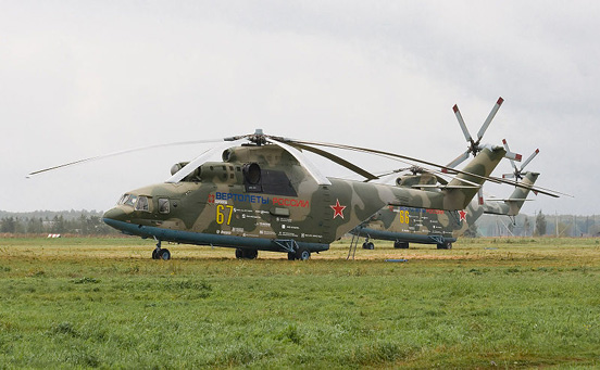 The biggest and heaviest helicopter Mil Mi-26. Soviet Union, 1983.