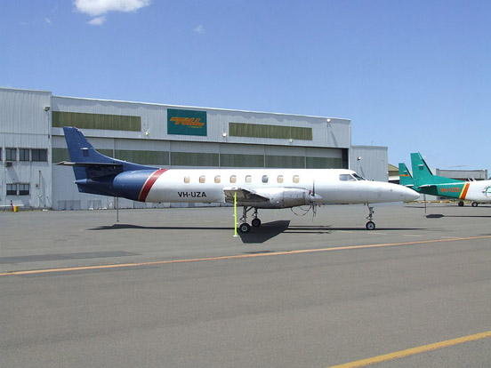 Jetcraft Aviation SA227-AT Merlin IVC freighter conversion VH-UZA in service, Australia c. 2007