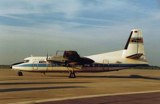 The Fokker F-27 turboprop airliner.