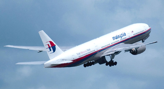A Malaysia Airlines 777-200ER