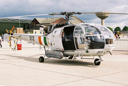 Irish Air Corps SA-316B Alouette III, 212 from 3 Operations Wing at RNAS Yeovilton in July 2006