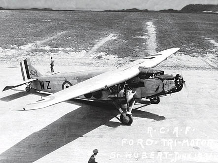 Ford Trimotor G-CYWZ of the Royal Canadian Air Force