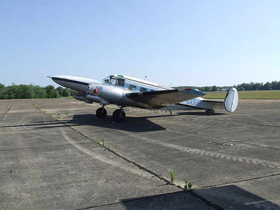 Engineless Hamilton Westwind conversion at an airfield in Tennessee