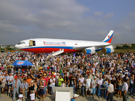 Il-96T at the MAKS Airshow, August 2007