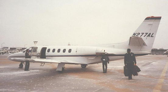 Cessna S550 Citation II at Chicago O'Hare in 1988