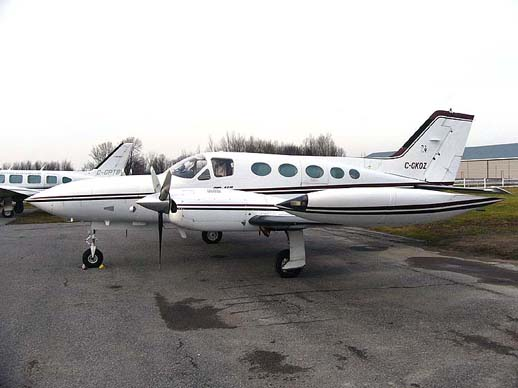 A Cessna 421B Golden Eagle at Carp Airport December 2006
