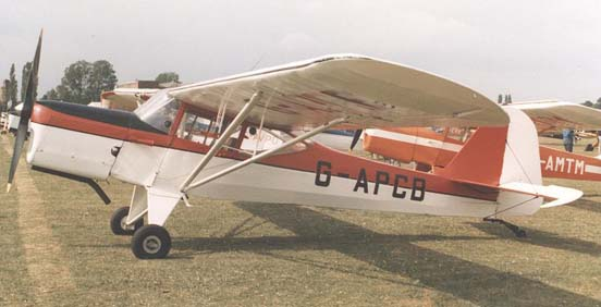 Auster J/5Q Alpine at PFA Rally at Cranfield airfield, Bedfordshire, in July 1989