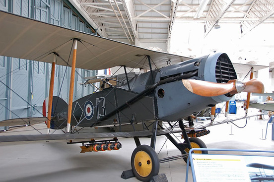 A Bristol F.2 Fighter preserved at the Imperial War Museum Duxford