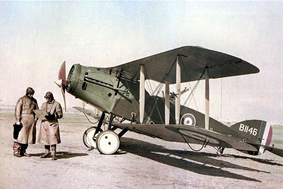 A Bristol F.2B Fighter of No. 1 Squadron, Australian Flying Corps in Palestine, February 1918.