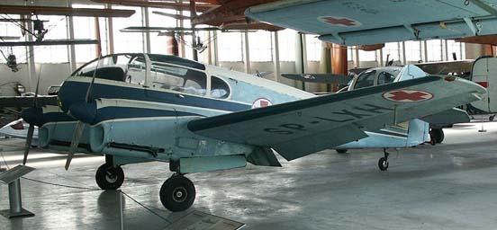 Aero Ae 145 used in Poland as an air ambulance (Polish Aviation Museum)