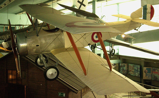 Sopwith No. 556 on display in the Musee de l'Air et de l'Espace at Paris le Bourget