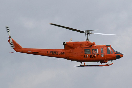 German Bell 212 used as air ambulance by the Ministry of the Interior.