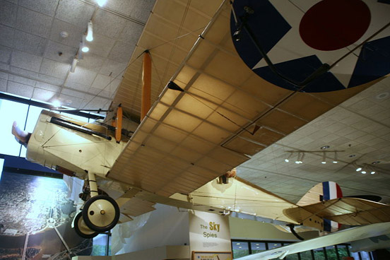 The DH.4B on display at the National Museum of the United States Air Force.