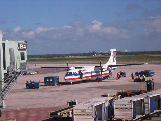 American Eagle Super ATR 72 at Santo Domingo Airport, Dominican Republic