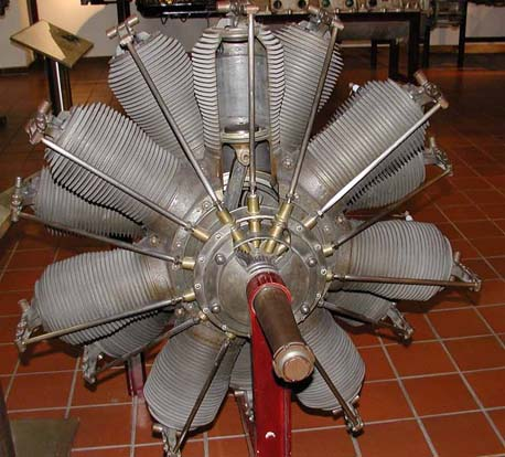 German Oberursel U.III engine in museum