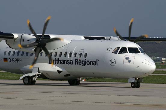 Contact Air/Lufthansa Regional ATR 42-500 at Stuttgart Airport