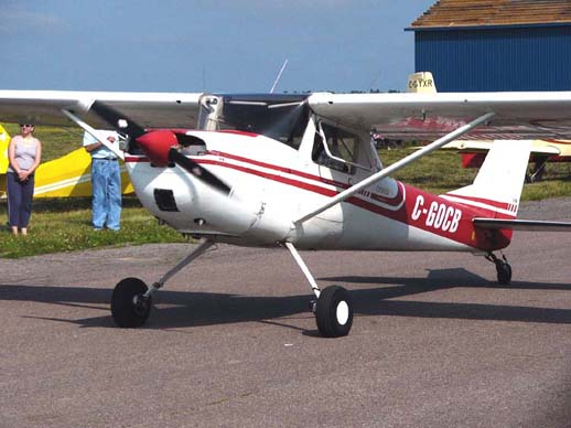A significant number of Cessna 150s have been converted to taildragger configuration using STC kits, such as this Cessna 150F