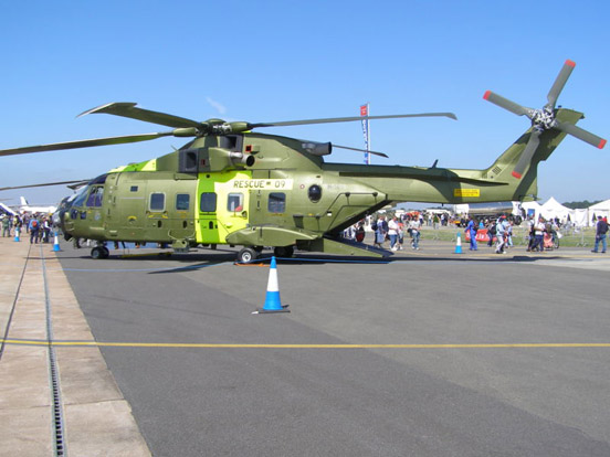 Rescue 09 a Danish Air Force Search and Rescue EH101