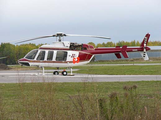 Helitack 63: a Bell 407 used for firefighting.